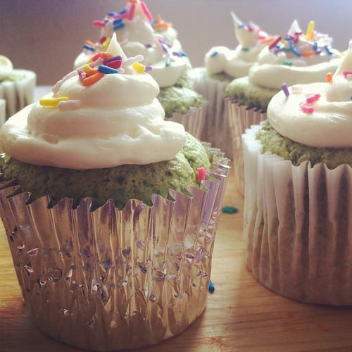 These Vanilla Frosting Cupcakes made with fresh spinach is a sneaky way to include vegetables in your kids diet. You won't believe how good these are!