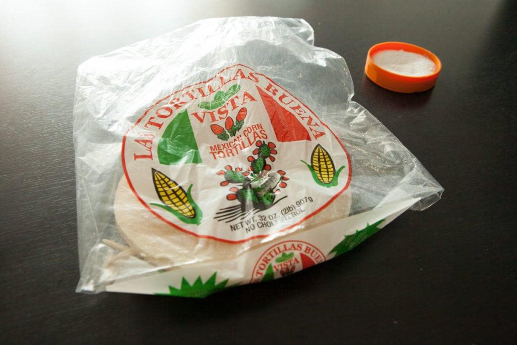 corn tortilla chips in bag