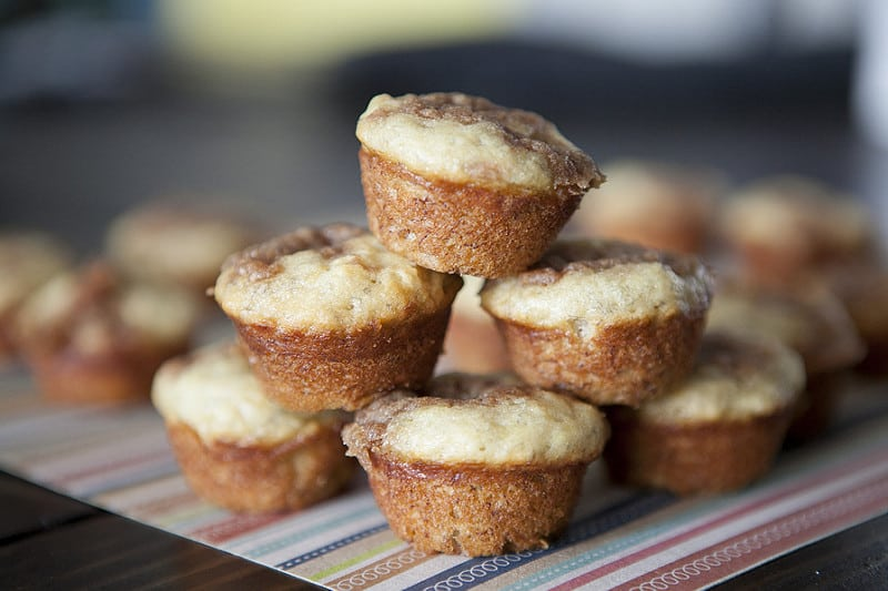 These MINI and MOIST Banana Muffins with crumb topping are the most delicious banana muffins you'll ever taste! Since they're mini, they're great for a healthy breakfast on the go! This recipe has been made thousands of times - find out why these banana muffins are the BEST and MOST POPULAR!