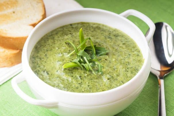 Creamy Lettuce Soup is a delicious, healthy recipe that uses 1 head of lettuce. Combined with heavy cream, chicken broth and spices, this is a great way to add lettuce to your diet! I love using Bibb lettuce in this recipe but Romaine and Iceberg work good too! Who knew cooked lettuce could taste so yummy for dinner - even kids love it!