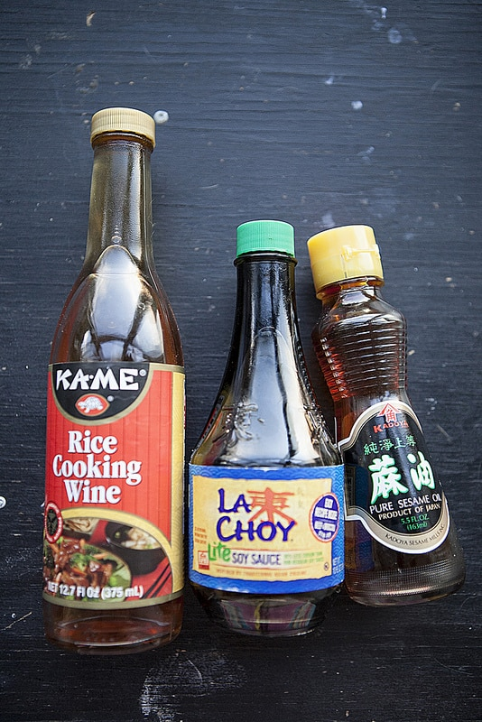 rice cooking wine and soy sauce