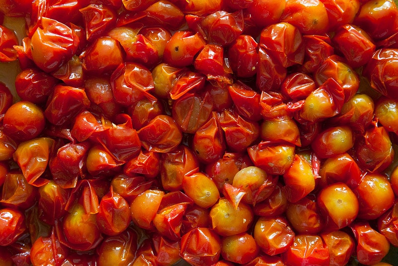 ROASTED CREAMY Cherry Tomato Sauce is sweet, creamy and SO EASY to make! This is the best recipe for growing garden tomatoes! You can serve immediately on pasta, can it or freeze it! Find out why thousands of people love this sauce!