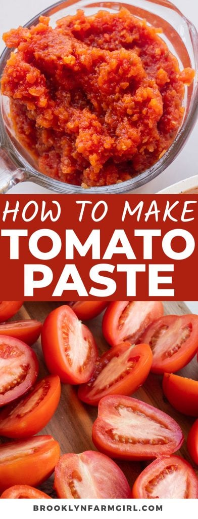 Learning How to Make Homemade Tomato Paste is the perfect way to use up the abundance of garden tomatoes. All you need are tomatoes, salt, and garlic! Use it in sauces, soups, or as a flavor staple in many more recipes.