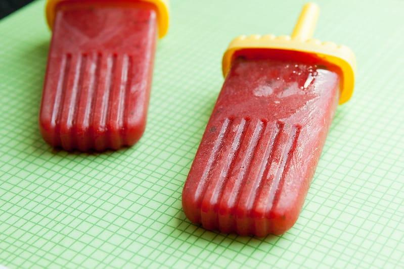 Watermelon & Strawberry Lime Mint PopsiclesIMG_4748