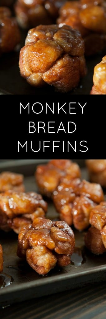 EASY Monkey Bread Muffins recipe made with refrigerated biscuits!  You're going to love how easy these are! They are a single serving alternative to Monkey Bread in muffin form! WARNING: They are addictive because they're so good!