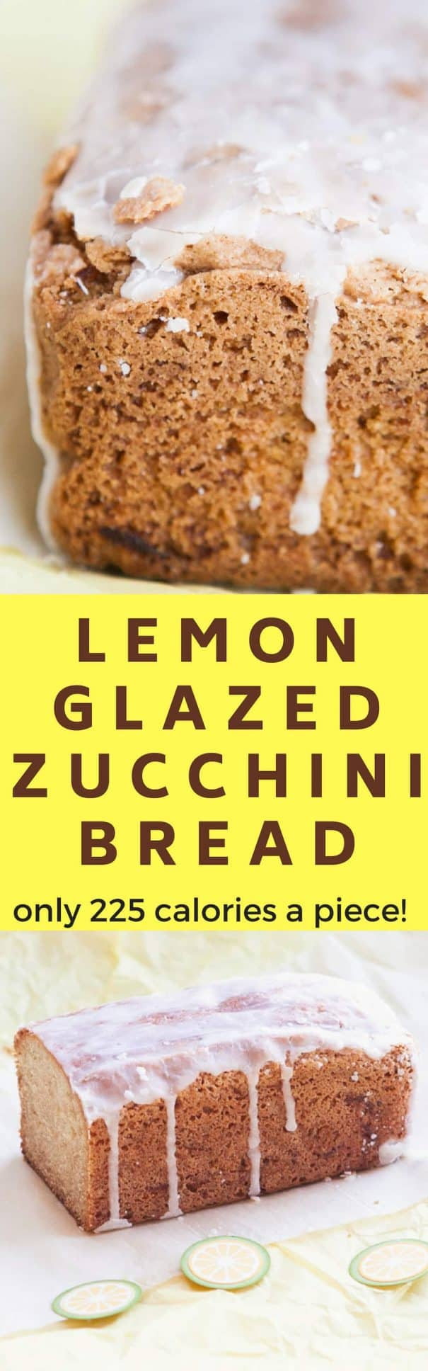RECIPE for the BEST fluffy and moist Lemon Glazed Zucchini Bread!   There's 2 cups of grated fresh zucchini baked into this easy to make beautiful bread. On top there's a lemon powdered sugar glaze which everyone will love!