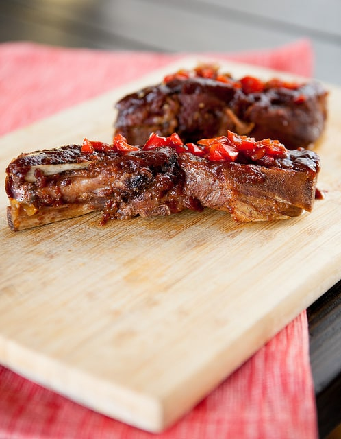 Easy mouth watering Slow Cooker BBQ Spare Ribs recipe.  These cook in the crockpot for 8 hours.  I often make these for BBQ's and people can't get enough!
