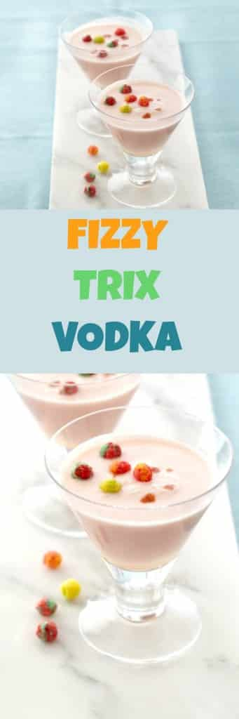 Recipe for delicious Fizzy Vodka with Trix Cereal.  For adults only!