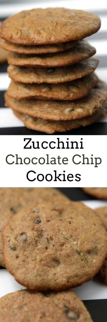 EASY to make Zucchini Chocolate Chip Cookies recipe. These cookies are crunchy and ready to eat in 15 minutes!    They're so good your kids won't even mind the vegetables in their cookies!