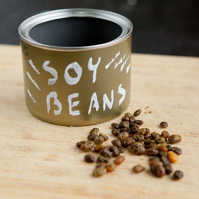 healthy edamame in jar