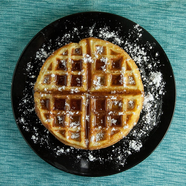 Easy to make Fluffy Buttermilk Waffles recipe!  These are my favorite waffles for breakfast because they're so soft!  I usually make a double batch of these to freeze for later!