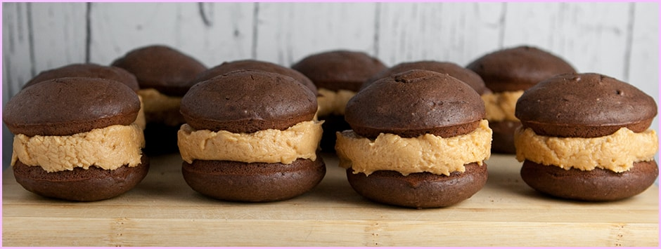 Mini Chocolate Peanut Butter Whoopie Pies Recipes — Dishmaps