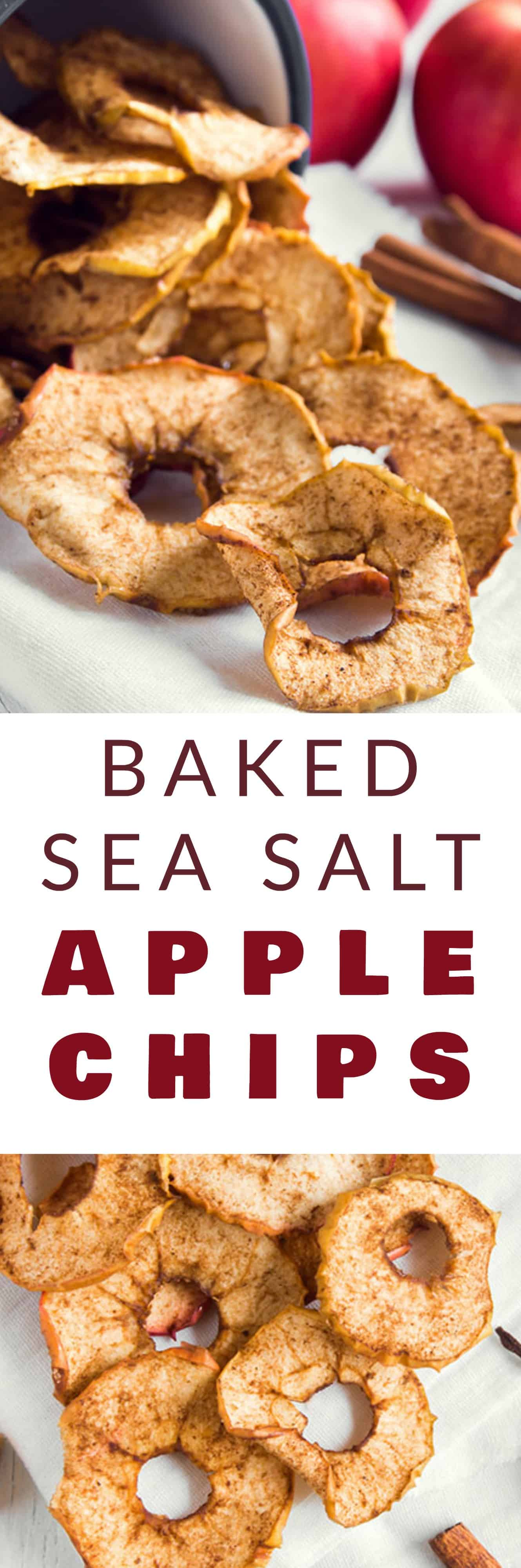 A crispyApple Chips recipe with sea salt that is healthy and easy to make! We worry about gaining weight with all those chips we consume while sitting in front of the TV! These homemade baked apple chips are healthysnacks to replace your favorite bag of potato chips!