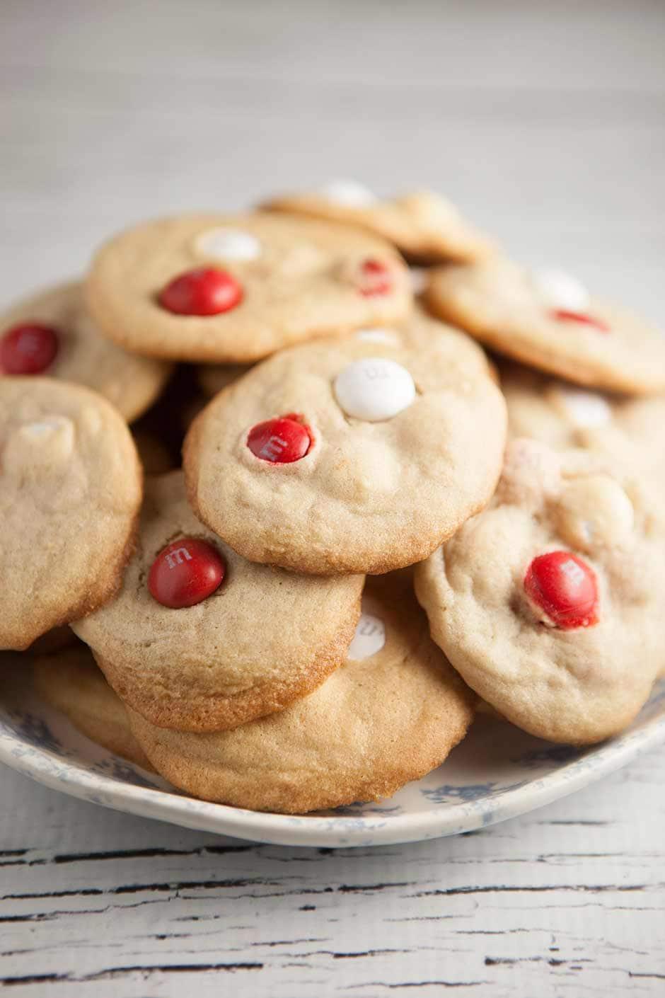 Peppermint White Chocolate M M Cookies Brooklyn Farm Girl