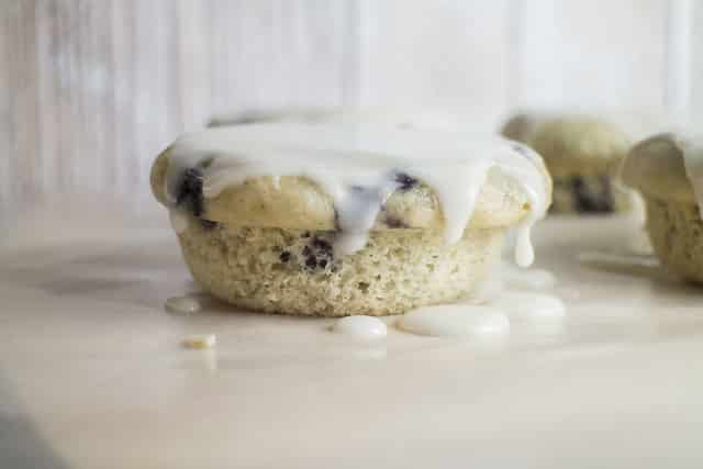 Blueberry Lemon Glazed Muffin Top Donuts_1