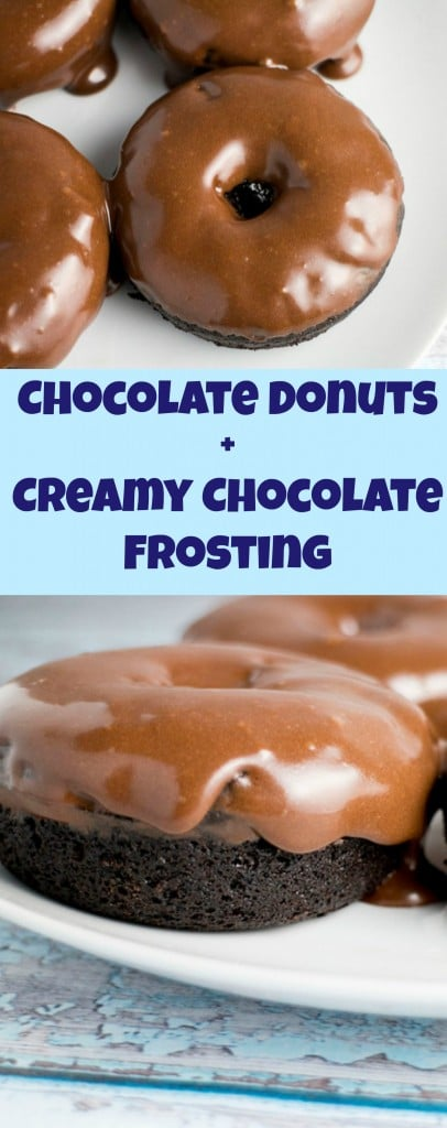 This Chocolate Donuts with Creamy Chocolate Frosting recipe is the best! Also included is a dairy free option!