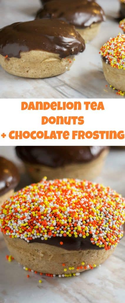 Dandelion Tea Donuts With Chocolate Frosting