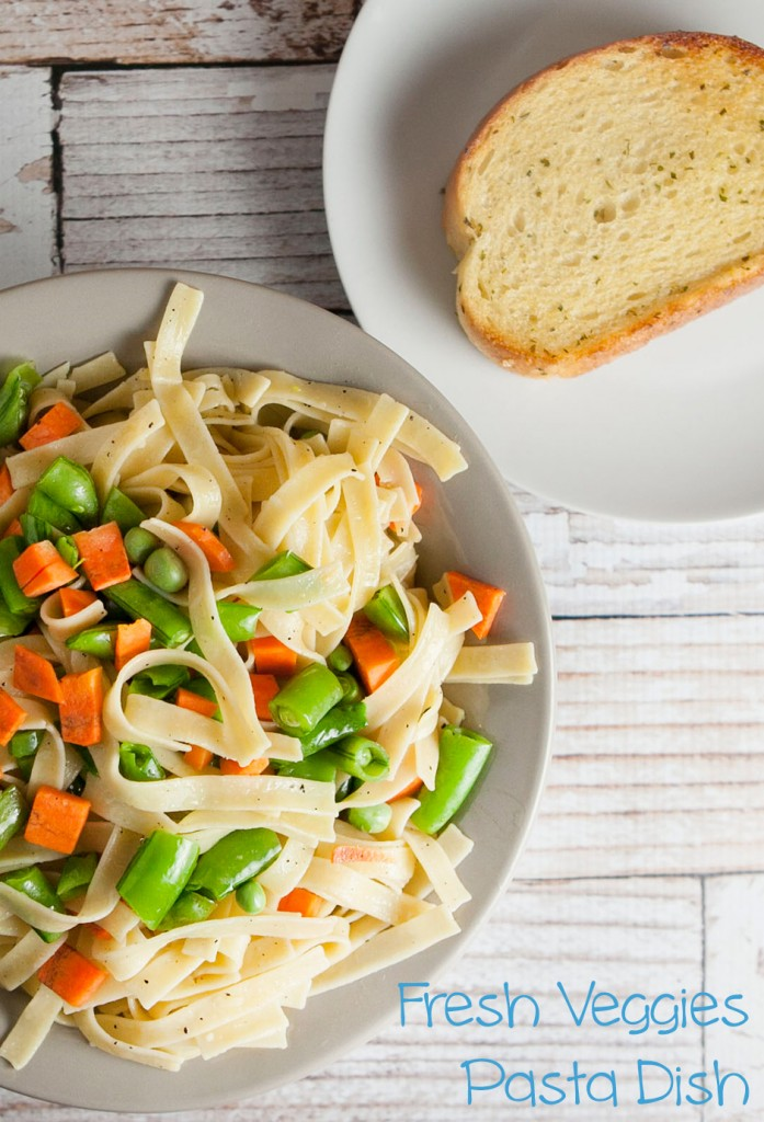 Fresh Veggies Pasta Dish