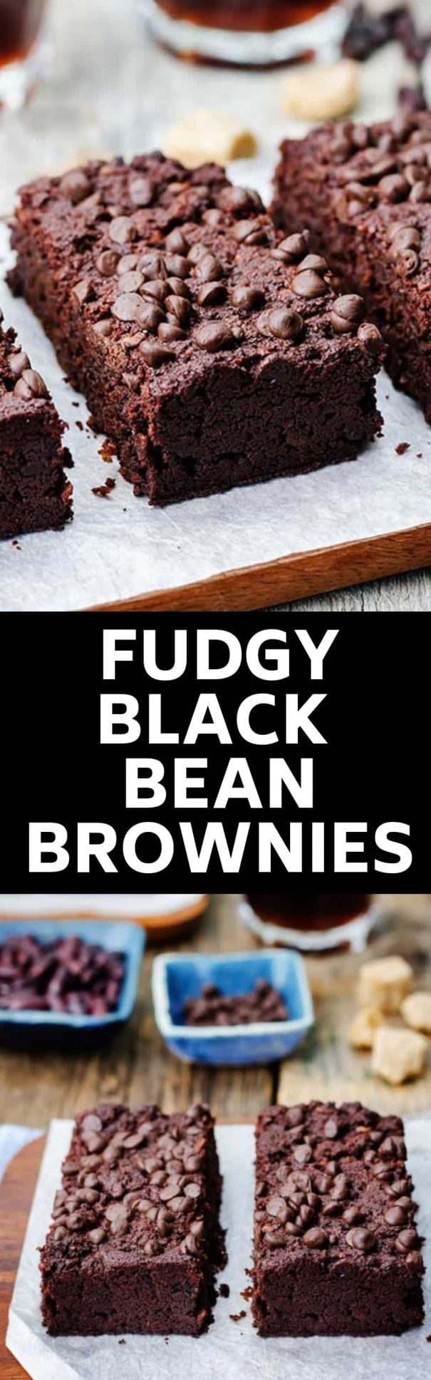 The BEST Black Bean Brownies recipe - healthy, vegan, gluten free and really easy to make! These moist brownies are made with canned black beans and peanut butter making them extra fudgy. I love how simple they are to make and how much kids and adults both love them!