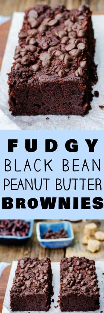 The BEST Fudgy Black Bean Brownies recipe!  I've won a baking contest with these brownies! These easy to make brownies are made with canned black beans and peanut butter making them extra fudgy and more healthy than the usual brownie.  I love how simple they are to make and how much kids and adults both love them!