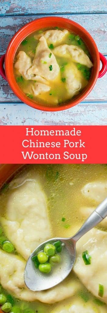Homemade Chinese Pork Wonton Soup recipe