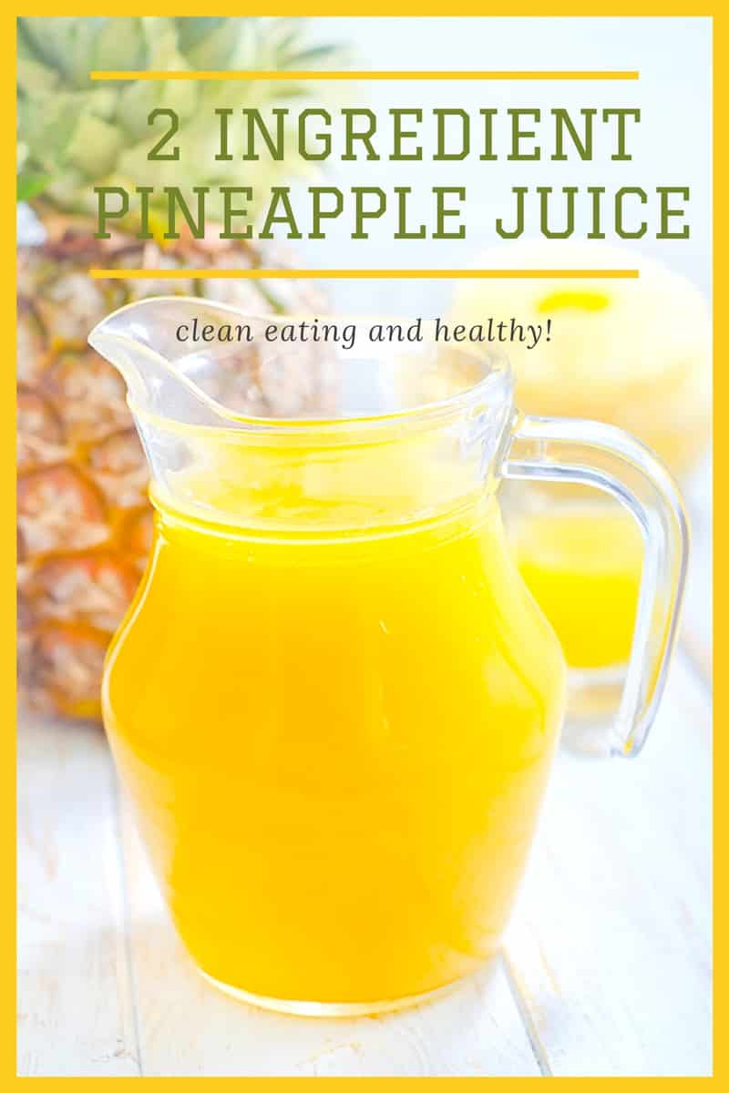 HEALTHY, 2 ingredient Pineapple Apple Juice! This fresh juice is tart because it's made with 1 fuji apple! This pineapple drink has so many health benefits, including detox and weight loss! It's perfect for breakfast or a healthy homemade snack!