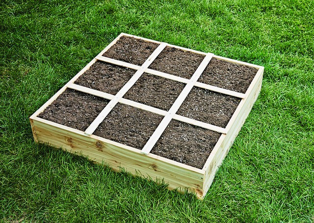 How to build a square foot garden box easy step by step for How to build box steps