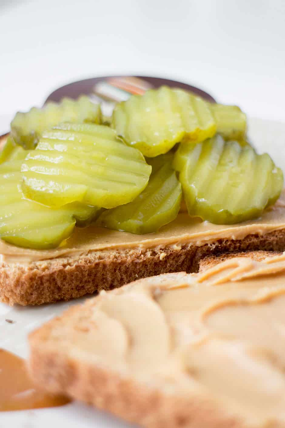 peanut butter and pickles sandwich a classic recipe. Black Bedroom Furniture Sets. Home Design Ideas