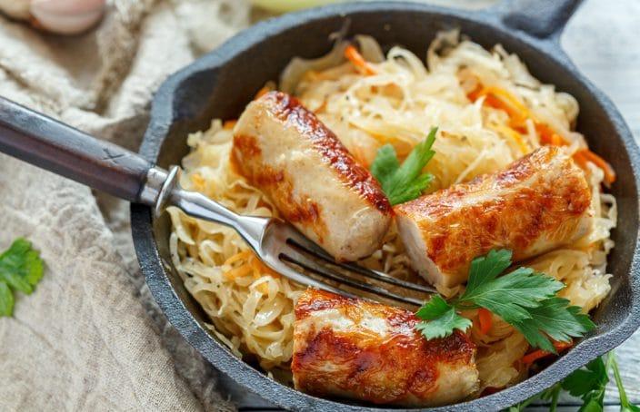 how to make sauerkraut and sausage