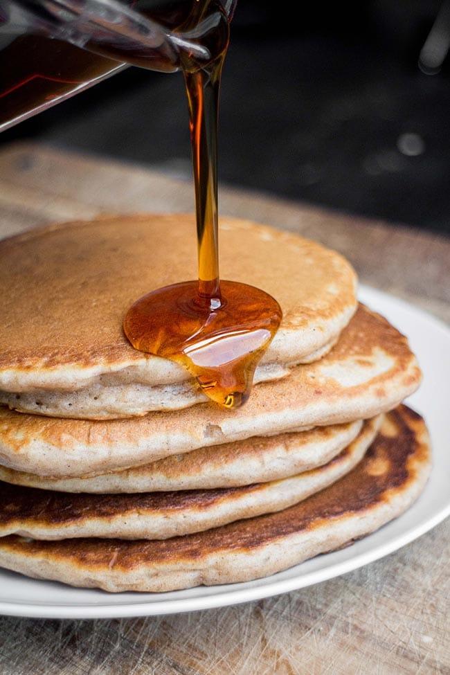 No-Butter-Homemade-Pancakes