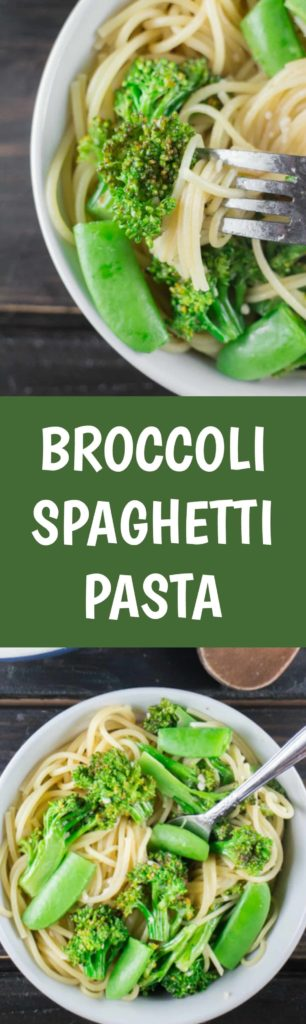 This Broccoli Spaghetti Pasta dish is great because it's quick, easy, fresh and full of flavor.