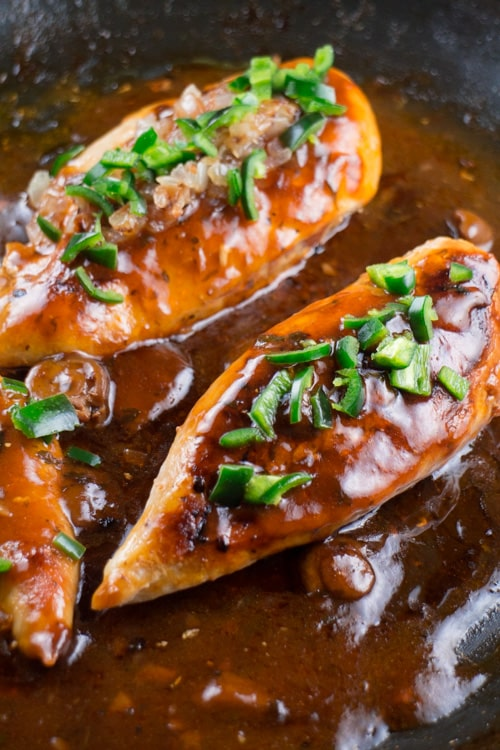 Chicken Marsala with Jalapenos with Brown Rice_2