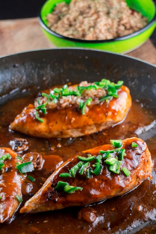 Chicken Marsala with Jalapenos with Brown Rice_3