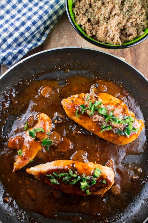 Chicken Marsala with Jalapenos with Brown Rice_4