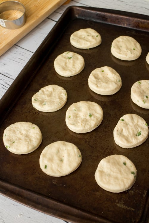 Step by step pictures on how to make the most Delicious Buttermilk Jalapeno Biscuits!