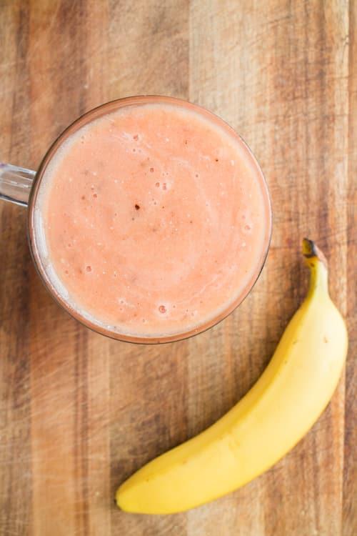 Frozen Banana, Watermelon, Orange Smoothie Drink_1