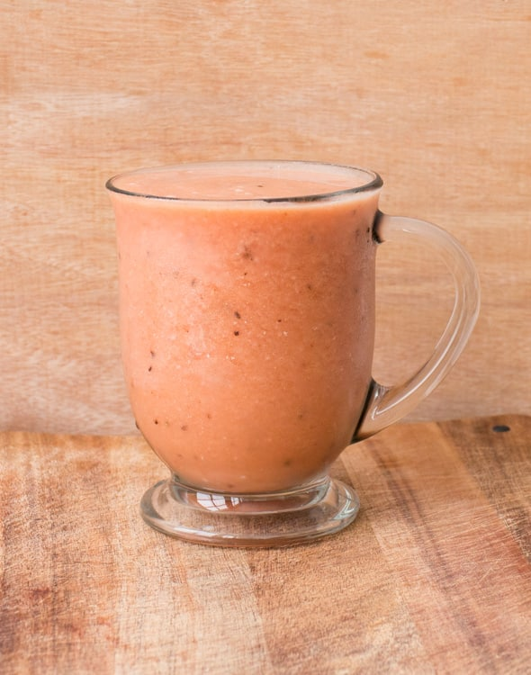 HEALTHY 3 ingredient Fruit Smoothie! All you need is banana, watermelon and orange juice for this easy smoothie recipe! It's perfect for breakfast and for weight loss! Kids also love it because of how good it is!