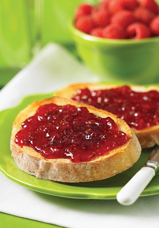 Canning recipes for Sour Cherry Jam, Bumbleberry Jam and Raspberry and Plum Jams.