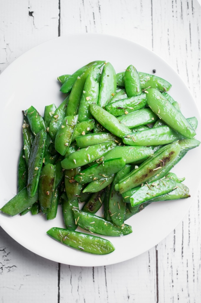 Baked Sugar Snap Peas | 15 Scrumptious Baked Vegetables Recipes