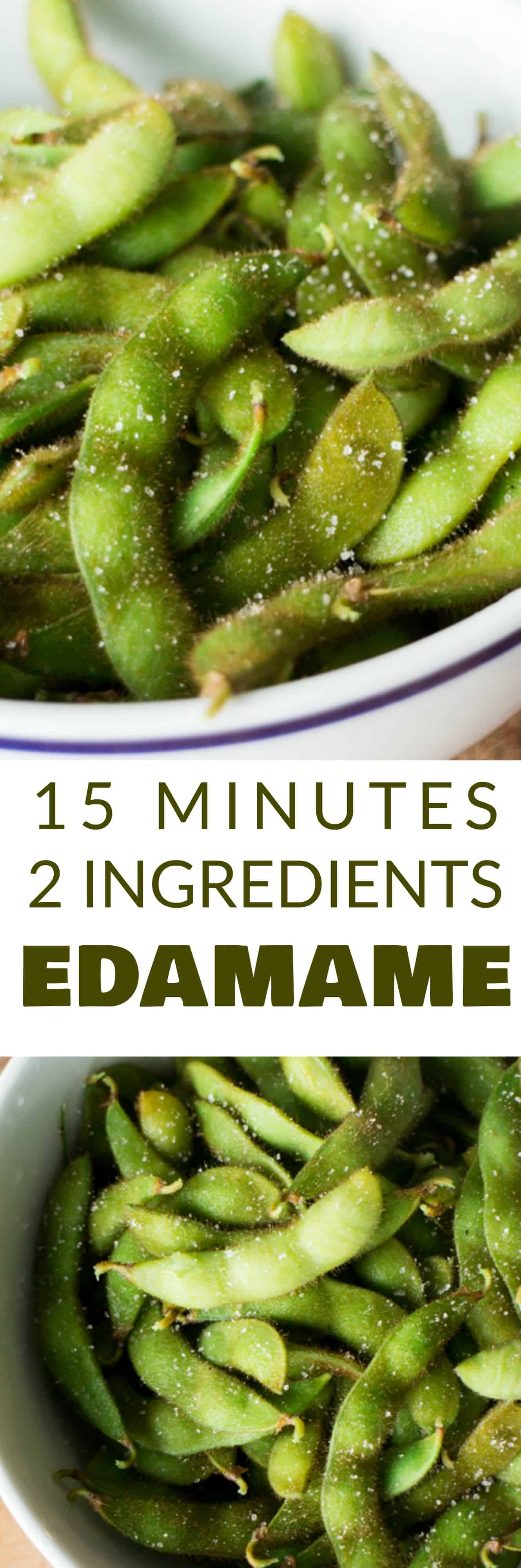 This Homemade Salted Edamame recipe tastes just like your favorite Japanese restaurant. This healthy recipe takes 15 minutes and requires 2 ingredients. Make it as a side dish or a snack!