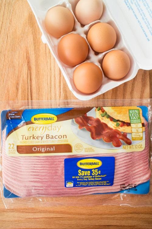 Scrambled Eggs With Bacon - Brooklyn Farm Girl