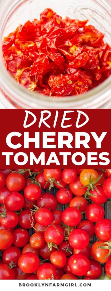 This easy method will show you exactly How To Dehydrate Cherry Tomatoes using a dehydrator. Use dried cherry tomatoes in pasta salads, sandwiches, or even eat them as a snack! It's the perfect way to use up an abundance of juicy, summer tomatoes.