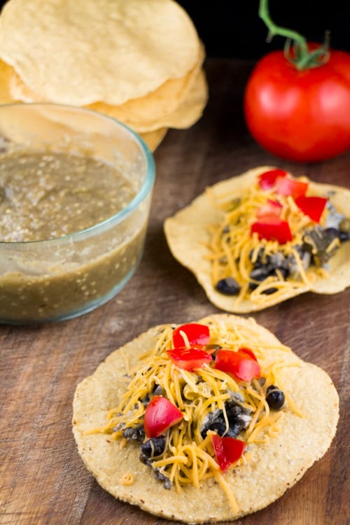 Slow Cooked Salsa Roja Tomatillo Chicken Tacos_9