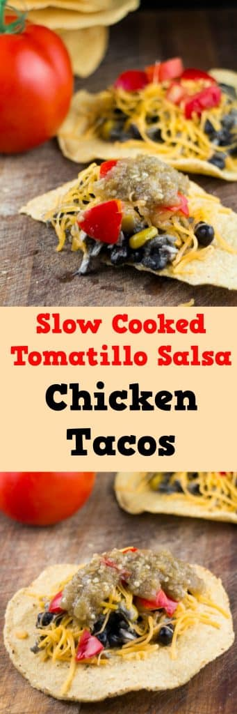 Slow Cooked Tomatillo Salsa Roja Chicken Tacos - Brooklyn ...