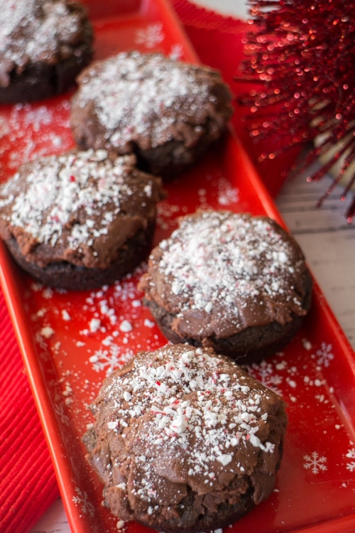 Chocolate Donuts with Peanut Butter Candy Cane Frosting _4