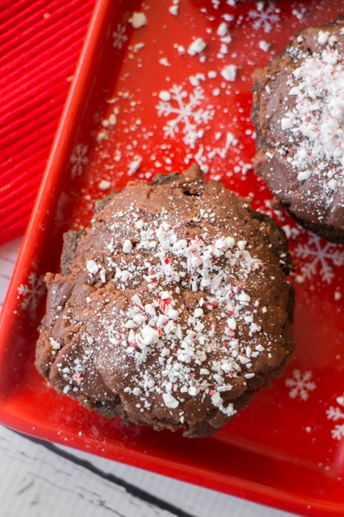 Chocolate Donuts with Peanut Butter Candy Cane Frosting _5