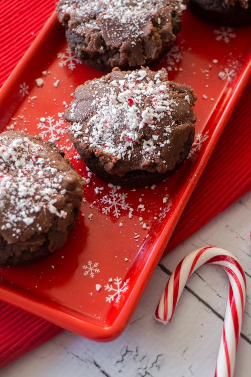 Chocolate Donuts with Peanut Butter Candy Cane Frosting _6