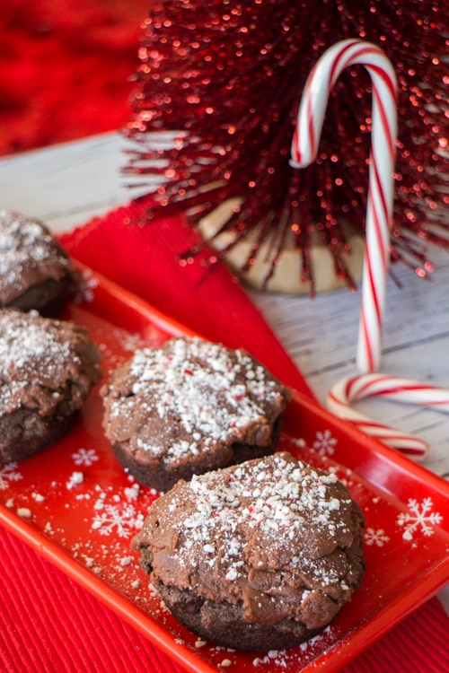 Chocolate Donuts with Peanut Butter Candy Cane Frosting _7