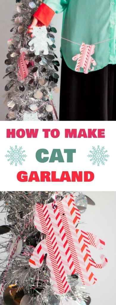 CAT LADY CRAFT! Step by step craft instructions on how to make cute cat garland, perfect for decorating for the holidays! This is a creative garland that we love putting on our Christmas tree to show everyone how much we love our cats!