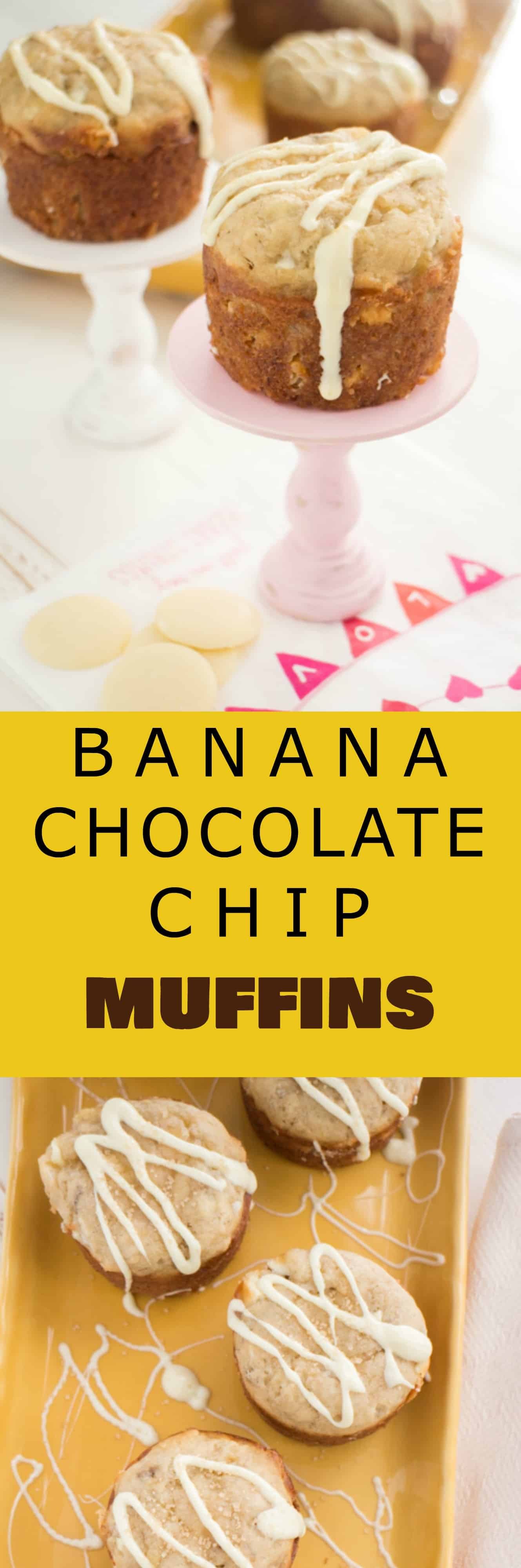 Banana White Chocolate Chip Muffins - Brooklyn Farm Girl